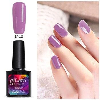 Modelones Salon Nail Art UV Nail Gel Polish French Manicure Kit Gel Nail Lacquer Soak Off Led Nail Gel Paint 10ML Colorful Gel