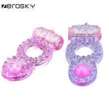 Buy Zerosky Vibrating Penis Rings Clit Dual Vibrating Cock Ring Stretchy Delay Penis Rings Sex Toys Men