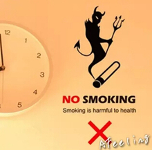 NO smoking wall sticker stop smoking prohibited warning sticker store shop office warning sign stickers