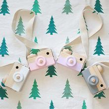 Mini Cute Wood Camera Toys Safe Natural Toy For Baby Children Fashion Clothing Accessory Toys Birthday Christmas Holiday Gift