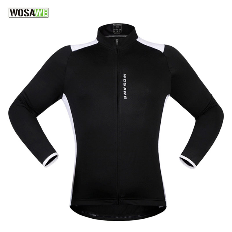 WOSAWE Spring Long Sleeved Bicycle Clothes Breathable Cycling Jersey Men Anti-sweat Ultralight Bike Jacket Jerseys