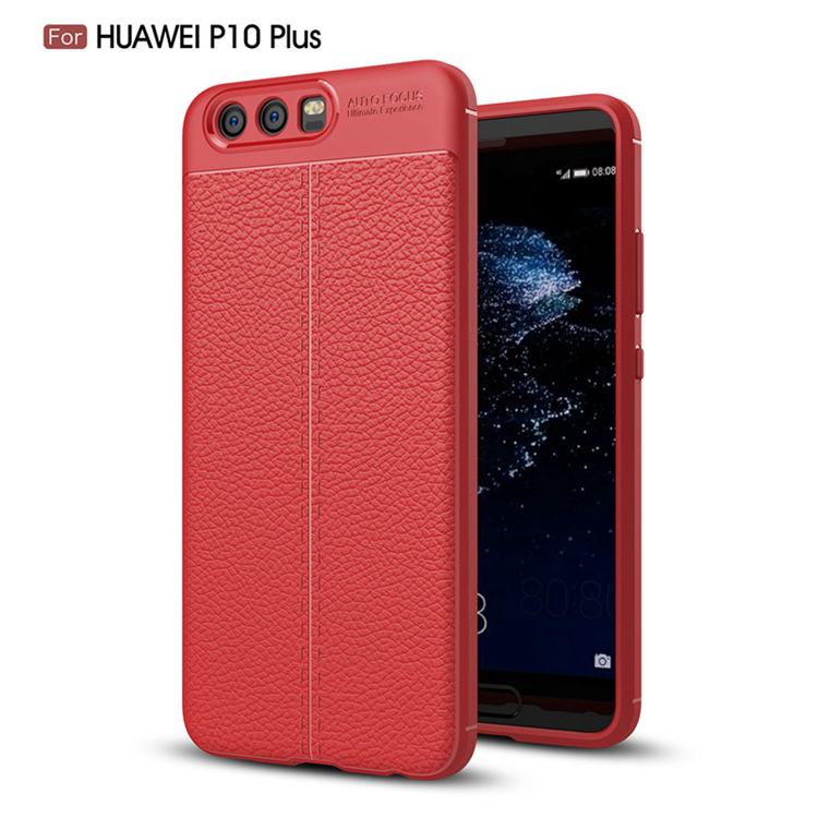 TIKONO Case For Huawei P10 Plus Cover Silicon TPU Luxury Leather Slim Soft Protective Cell Phone Cases for Huawei P10 Plus Case 9