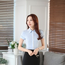 New Elegant Fashion Summer Ladies Blouse Shirts Female Tops Blusas Business Work Wear Clothes Blouses Plus Size