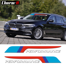 2pcs New M Performance 2018 Front Rear Windshield Windows Decal Stickers for BMW X1 X3 X5 X6 Z4 M2 M3 M4 M5 e46 e60 e39 e90 f15(China)