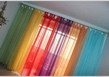 (One Panel) Europe gauze curtain, German style window curtains,voile looped top screens
