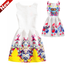 Children Costumes Dress Ball Gown Jurken Verkleedkleren Meisjes Floral Girls Dresses Summer Vestidos Age 6-12Y PO6