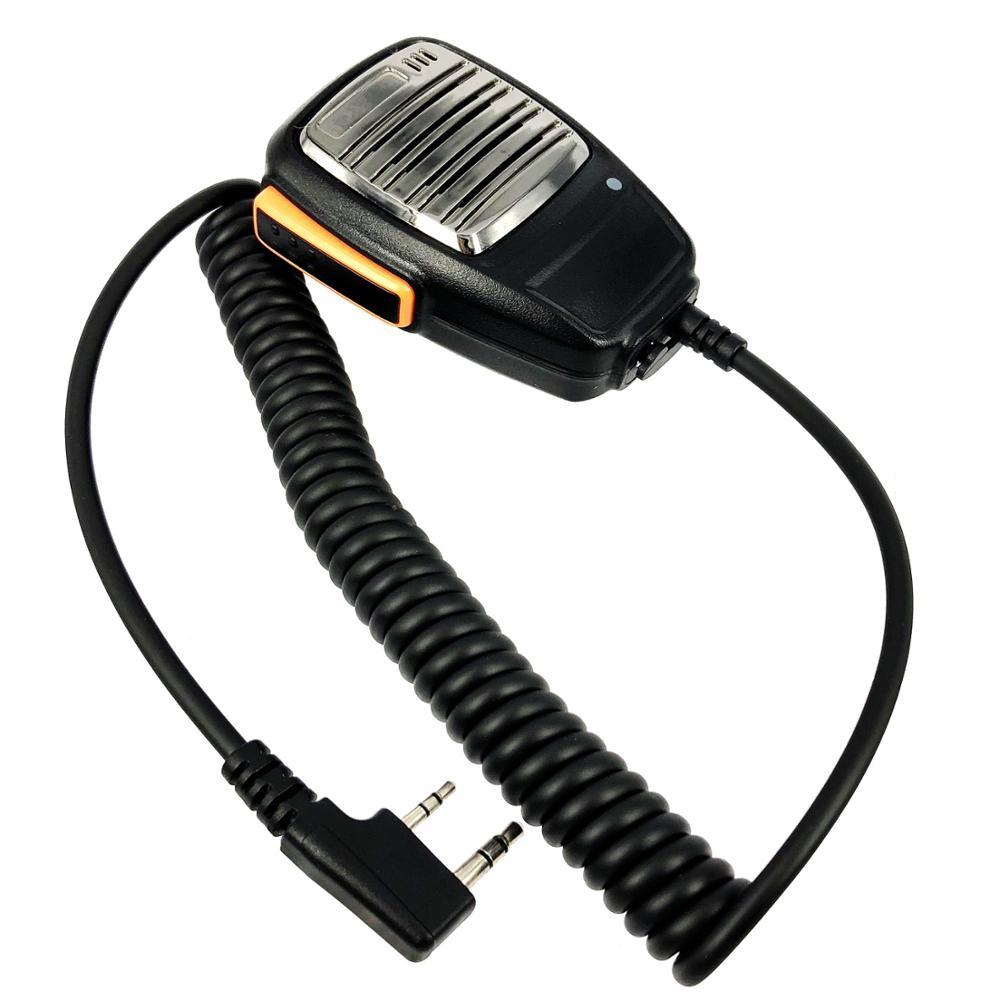 Metal Mask 2 Pin Speaker Mic for Baofeng Kenwood 5