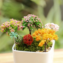 Miniature, Miniature Artificial Tree Micro Landscaping Decoration Plastic Craft Sand Table DIY Accessories(China)
