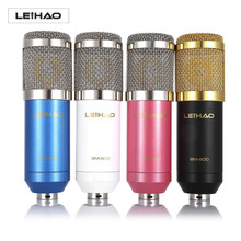 Hot LEIHAO BM - 800 Condenser Sound Recording Microphone Low Noise with Shock Mount for radio broadcasting studio