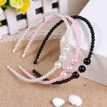 New Korean Style Princess Pearl Elegant Kids Girl Pearl Headbands Hair Bands Women Children Hair Accessories