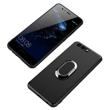 For Huawei P10 Plus Phone Cases Magnetic Ring Holder Car Bracket TPU PC Hard Casing for Huawei P10 Plus Cover Coque(China)