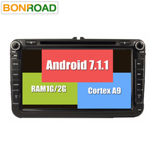 "Android 7.1 Car DVD Player GPS 2Din 8"" Car Radio for EOS Seat Polo Passat B6 Tiguan Golf5 1080P Capacitive Touch Screen Free Map(China)"