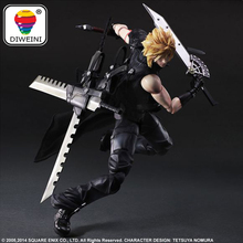 DIWEINI Final Fantasy Action Figure Play Arts Kai Cloud Strife Collection Model Toy PLAY ARTS Cloud Strife Playarts Doll