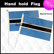 Botswana Hand Held Stick Flags Safety Ball Top Hand National Flags 14*21CM 10pcs a lot