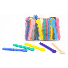 1Pack 10Pcs Dental Ligature Ties Orthodontics Elastic Multi Color Rubber Bands For Health Teeth Tools