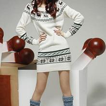 2016 Deer Printing Knitted Pullovers Christmas Costumes Burderry Women Cute Animal Design Outerwear Ladies Gift Sweaters
