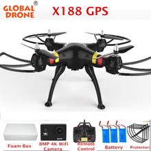 Global Drone X188 GPS Quadcopter One key Return Drones with 8MP Wifi Camera Remote Control Professional GPS Quadrocopter