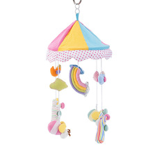 Cute Baby Castle Rattle Hanging Toy with rainbow&bee Plush Crib Bell Stroller Accessories Infant Hand Eye Train Bebe Xmas Gift