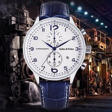Buy Keller & Weber Brand Men Wrist Watch Date Display 30M Water Resistant Luxury Chronograph Quartz Movement Business Calendar Male for $47.49 in AliExpress store