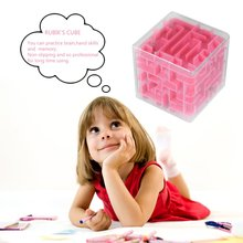 New Hot OCDAY 3pcs 3D Stereo Mini Maze Rolling Ball Rotating Magic Square Puzzle Game Children Adult Learning Educational Toys