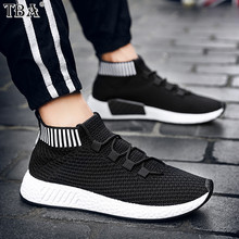 TBA 2017 Free Shipping Men Winter Sneakers knit Lightweight Sports Shoes Non-slip Outdoor Athletic Trainers Casual Shoes(China)