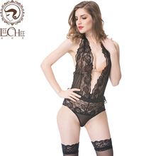 Buy Leechee Q912 Women sexy lingerie Babydoll Deep v collar teddy sexy lenceria perspective lace Erotic underwear porn costumes sexo