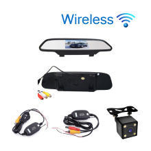 Car Styling Wireless 4.3 inch Car Rear View Mirror Car Monitor Display for Rear view Reverse Backup Camera Car TV Display Wifi