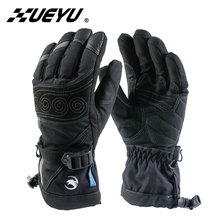 XUEYU Autumn Winter Motorcycle Gloves Motorcycle Men Women Cold-proof Waterproof Motorcross Gloves Snowboard Skiing Moto Gloves(China)