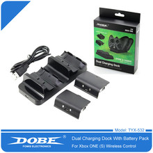 Dual Wireless Charger for Xbox One Controller Charger Battery Pack for Xbox One Charging Station