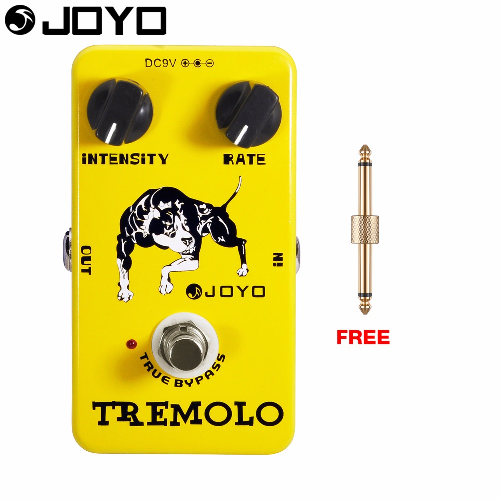 JOYO Tremolo Electric Guitar Effect Pedal Intensity and Rate Controls True Bypass JF-09 with Free Connector<br>