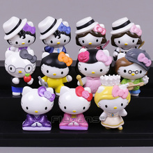 Hello Kitty Cosplay MJ Michael Jackson Mini PVC Figures Collectible Model Toys 5~6.5cm 11pcs/set