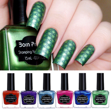 Buy BORN PRETTY 15ml Shimmer Nail Art Stamping Polish 6 Colors Nail Varnish Nail Plate Printing Polish Stamping DIY Manicure Lacquer for $2.48 in AliExpress store