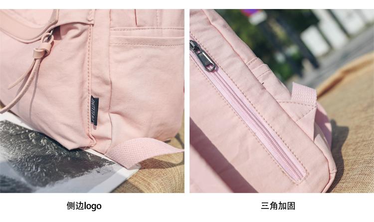 Menghuo High Quality Women Canvas Backpack Teenage Girls Leisure Backpack Bag Vintage Stylish Female School Bag Bookbag Mochilas (25)