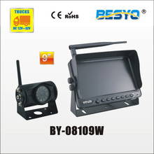 Heavy vehicle (trucks ,bus ,vans) reversing   rearview wireless  monitor with camera system BY-08109W