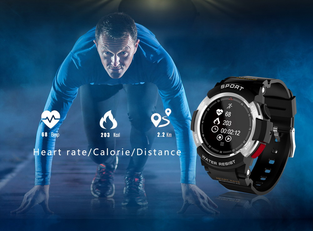 DTNO.1 Smart Watches F6 50m Waterproof Smartwatches Sports Nordic NRF51822 Smart Watch Sleep Monitor Remote Camera IOS Android (5)