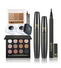 HUAMIANLI Class Makeup Set Magical Halo Makeup Combination  Eyeshadow   + Mascara+eyeliner+eyebrow powder