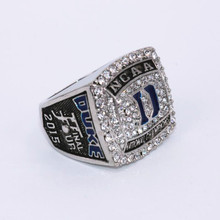 USA size 8 to 14! 2017 hot crazy NCAA 2015 Duke Blue Devil championship ring replica KRZYZEWSKI solid ring drop shipping(China)