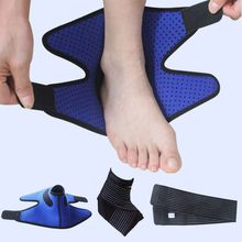 Football Climbing Sport Ankle Support Brace Ankle Pad Dry and breathable Cross And Compression Support Brace(China)
