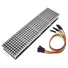 MAX7219 Dot Matrix Module For WAVGAT Microcontroller 4 In One Display with 5P Line