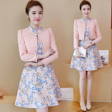 Buy new women's clothing korean fashion office lady brief small coat & print dress two-piece suit vestidos design clothes elegant for $29.91 in AliExpress store