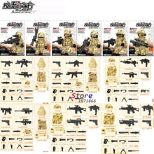 6pcs Guard Against Terrorism SWAT Team Police Officer Tactical Unit Military Army Weapons building blocks  bricks toys