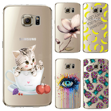 S6edge Soft TPU Cover For Samsung Galaxy S6edge Case Phone Shell Cases Balloon Flowers Artistic Eyes Cactus Best Choice