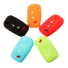 1pc 3 buttons Luminous Silicone car key case cover for FIAT /Panda /Stilo /Punto /Doblo /Grande /Bravo 500 Ducato /Minibus