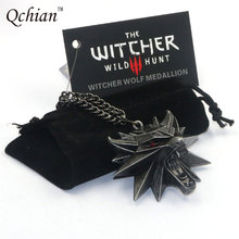 Buy Game Witcher Key Chains Witcher 3 Pendant Necklace Medallion Wizard Wolf Head Alloy Keychain Black Bag Tag for $2.79 in AliExpress store