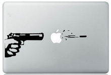Handgun Shoot for apple Sticker for Macbook Air 11 12 13 Pro 13 15 17 Retina Laptop Car Versatile Decal Skins Vinyl Pegatinas