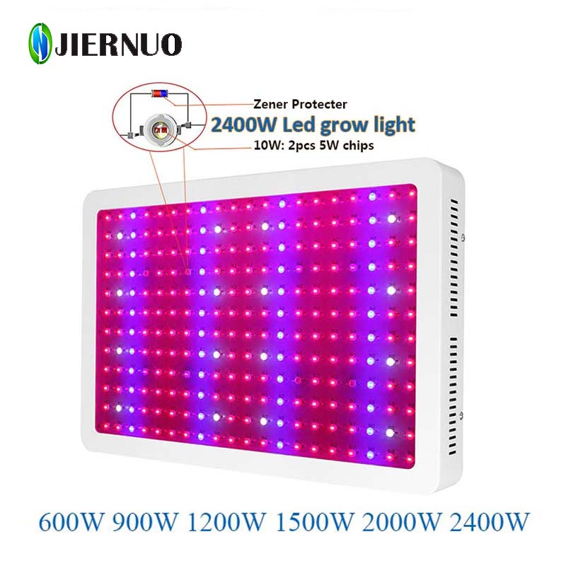 LED Grow Light 1200W 2000W Mini 600W 900W Double Chips Fitolampa Led Grow Light Full Spectrum Aquarium Plant Grow Light CJ(China (Mainland))