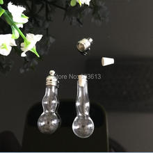 Ship Free! 100pieces small DIY pendant mixed shape vial pendants Glass perfume bottle Clearance (metal cap with rubber plug)
