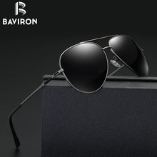 BAVIRON 2017 Men Driving Sunglasses Classic Aviator Polarized Glasses Perfect Travel Goggles Mirrored Tinted Nice Eyewear 27035