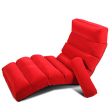 Lounge Chair Living Room  Day Bed SleeperJapanese Style Floor Foldable Sofa Bed Upholstered  Chaise Lounge Indoor Furniture