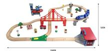 Thomas and His Friends -70PCS Thomas Train Track Set Crane Garage Plane  Beech Wooden Railway Track  fit Thomas Gifts For Kids